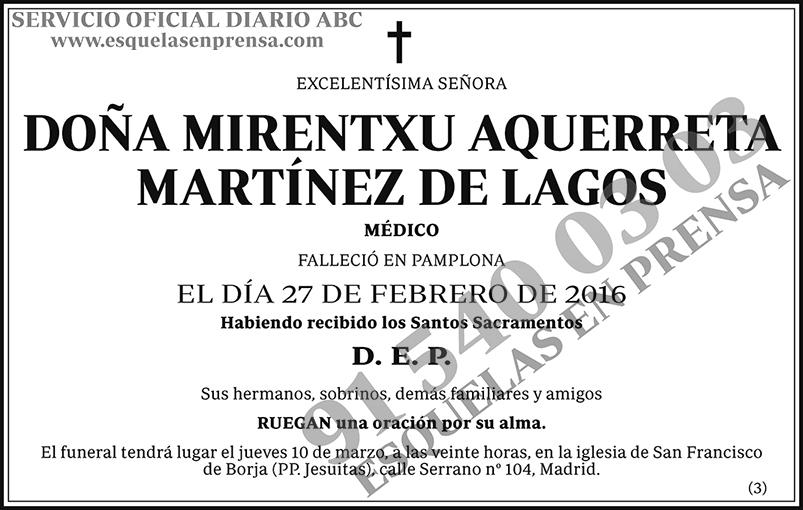 Mirentxu Aquerreta Martínez de Lagos